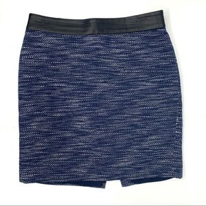 Ann Taylor Dark Blue Tweed Style Pencil Skirt